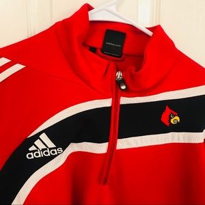 Adidas quarter zip athletic jacket